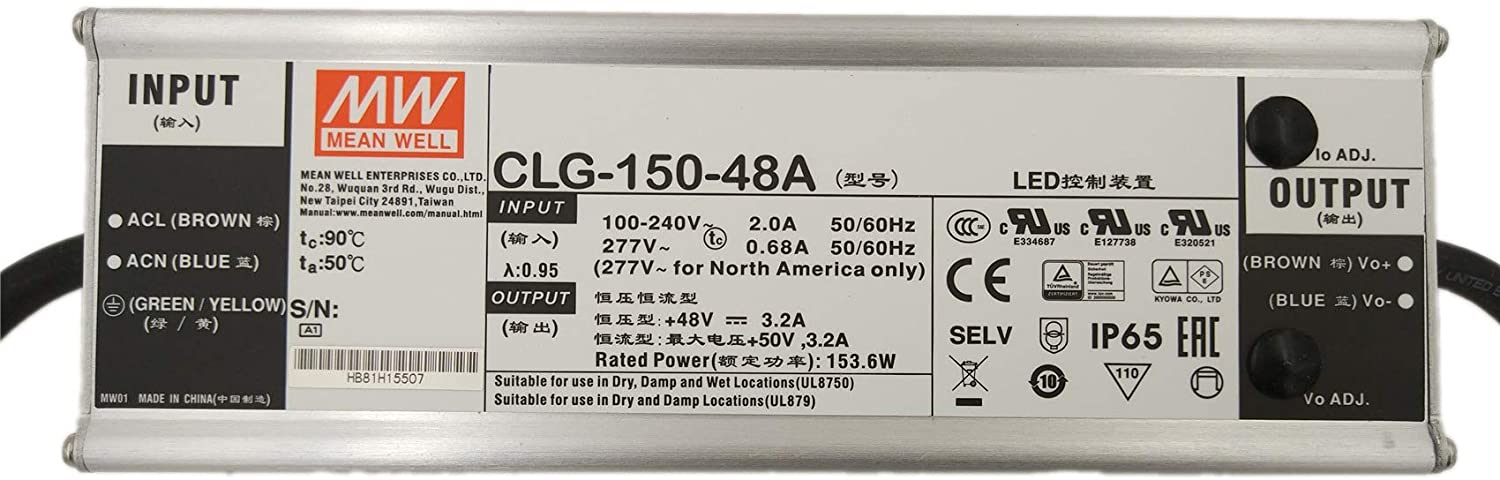 [LED Driver/CLG-150 Series/LED lighting Use]Mean Well CLG-150-48A 153.6W Single Output Switching Power Supply(48V 3.2A)