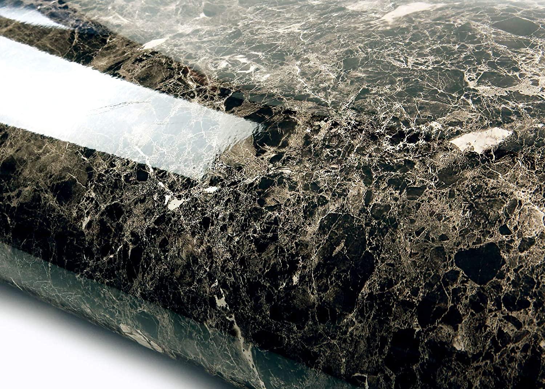 ROSEROSA Peel and Stick Flame Retardation PVC Faux Marble Instant Self-Adhesive Wallpaper Covering Countertop Backsplash Marron Emperador (PGF4710-1 : 2.00 Feet X 6.56 Feet)