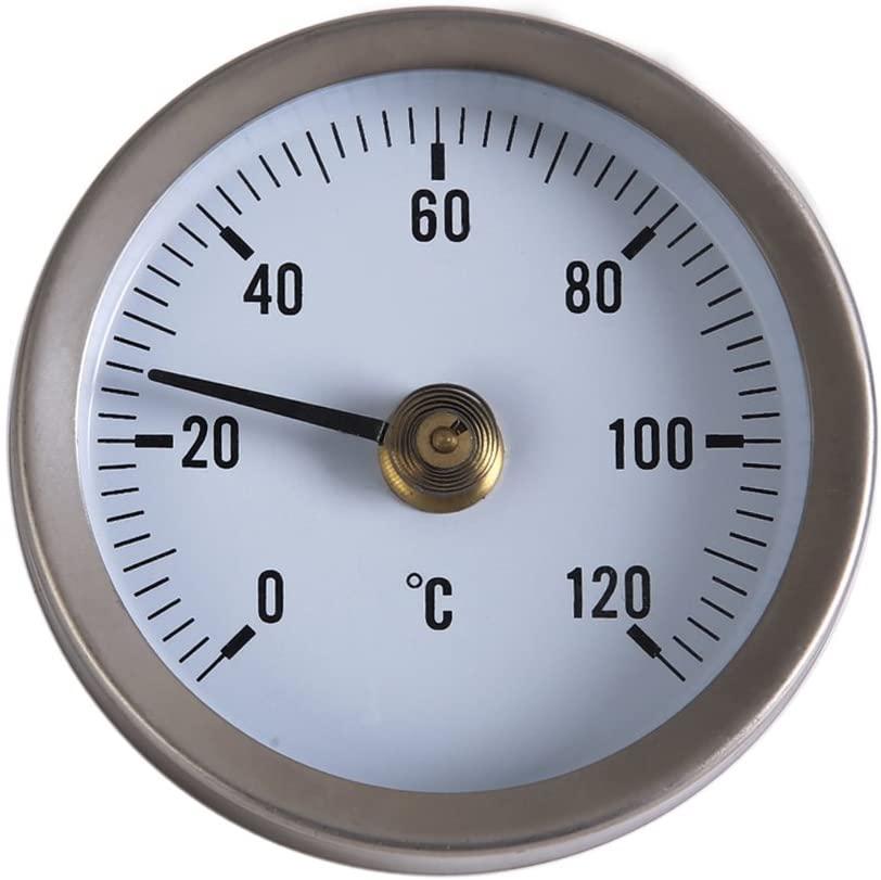Awakingdemi Water Temperature Gauge, Industrial Temperature Gauge Dial Thermometer 0/120°C for Water/Oil 1/2