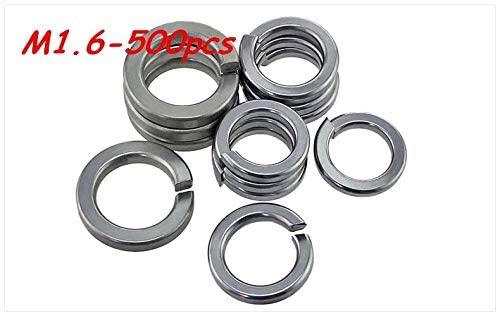 Ochoos 500pcs M1.6 304 Stainless Steel Spring Washer Shells Pad Elastic Gasket