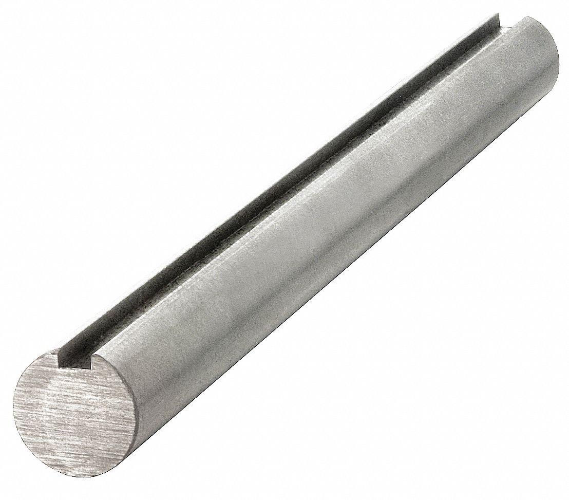 Carbon Steel Grade 1045 Keyed Shaft,20mm Diameter,6mm x 3.5mm Keyway,1000mm Length