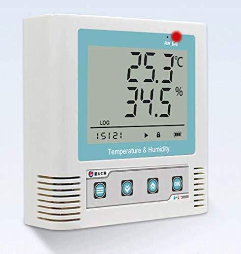 MeterTo Precision USB Temperature and Humidity Recorder Temperature Humidity Data Logger Internal Probe -20℃-60℃ 0-95% RH Accuracy ±0.1℃ ±1.5% RH Recording 260,000