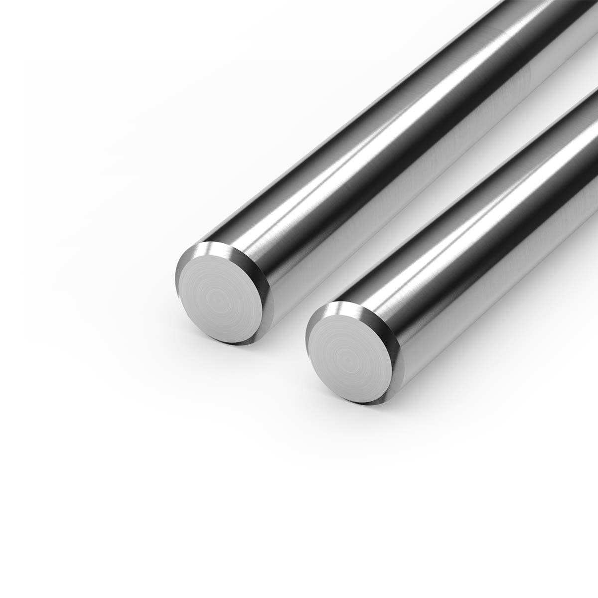 Linear Motion Rods, FEYRINX 2PCS 8mm x 300mm (.315 x 11.81 inches) Case Hardened Chrome Linear Rail Shaft for 3D Printer, DIY, CNC - Metric h8 Tolerance