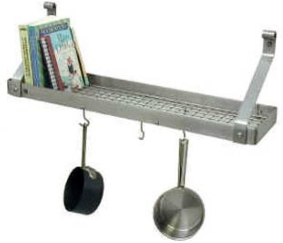 Enclume Premier Deep Bookshelf Wall Pot Rack, Stainless Steel