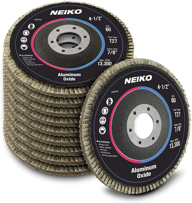 Neiko 11107A Aluminum Oxide Flap Disc | 4.5