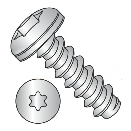 #10 x 3/8 Type B Self-Tapping Screws/Six-Lobe (Torx)/Pan Head/18-8 Stainless Steel (Carton: 4,000 pcs)