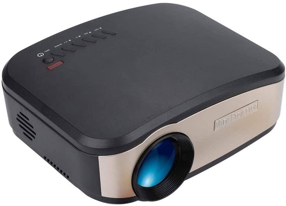 RUIXFEC Projector, 1080P Projector, Video Projector, LED Keystone Correction Phone WiFi Control Full HD Video Supprots VGA/HDMI/USB/AV