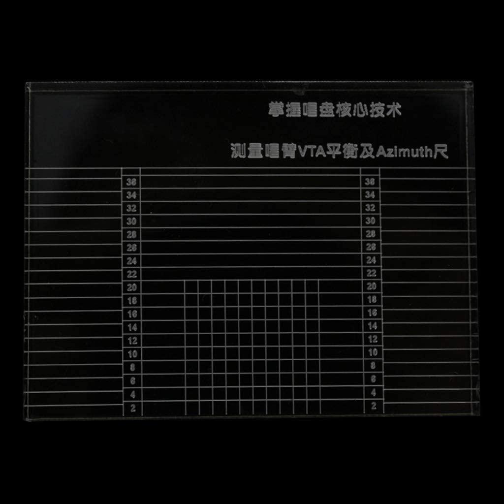 QUQUTWO Vinyl Record Player Measuring Phono Tonearm VTA Balance Cartridge Azimuth Ruler Clear