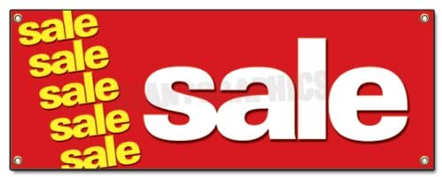 Sale Banner Sign Clearance Retail Sign Signs