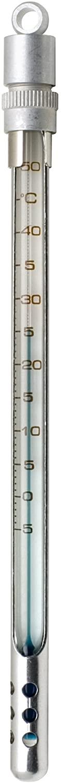 H-B Enviro-Safe Liquid-In-Glass Pocket Laboratory Thermometer; -5 to 50C, Window Metal Case, Environmentally Friendly (B60570-1000)