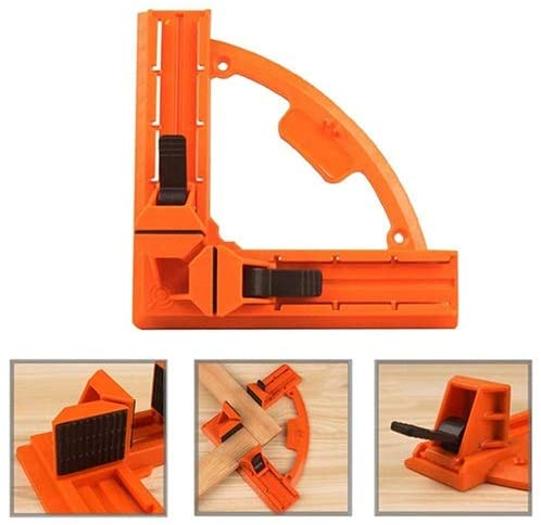 NUOCHEN Corner Clamp 90 Degree Positioning Squares, Right Angle Clip Clamp Tool, for Welding, Wood-Working, Photo Framing - Best Unique Tool Gift for Men