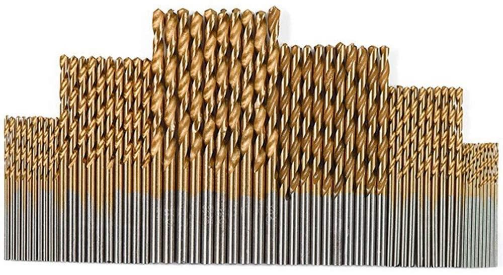 MLH-MLH High-Speed Steel Twist Drill Straight Shank Drill 60pcs Titanium Stainless Steel Reamer Packs Industrial Cutting Accessories Drill