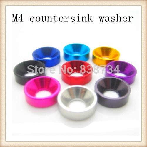 Ochoos 50pcs m4 Anodized Alloy Aluminium Cup Washer