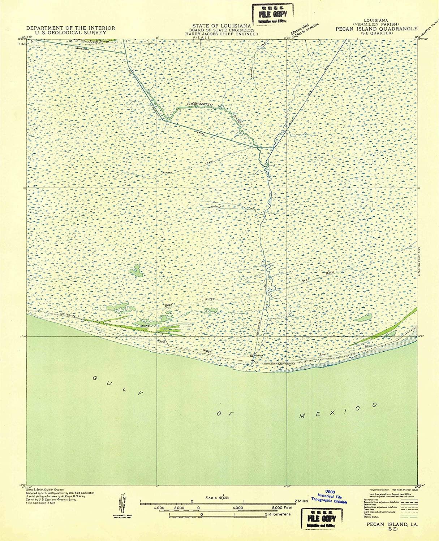 Map Print - Pecan Island SE, Louisiana (1932), 1:31680 Scale - 24