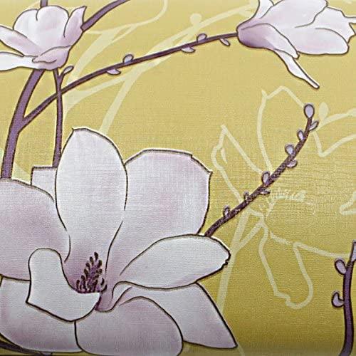 ROSEROSA Peel and Stick PVC Instant Floral Decorative Self-Adhesive Film Countertop Backsplash Florian Yellow Purple Gold (GP9176-1 : 1.96 Feet X 8.20 Feet)