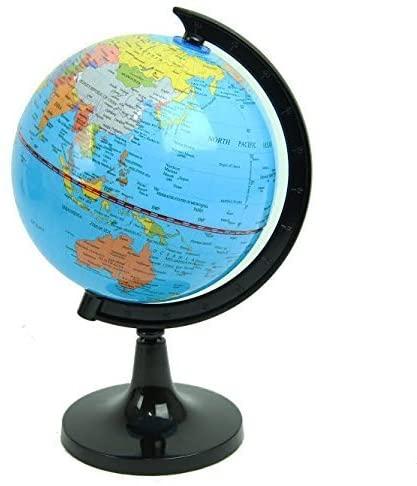 Political World Globe, Office & School Desktop Stand, Easy Rotating Swivel, 9