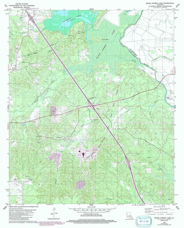 Map Print - Bayou Pierre Lake, Louisiana (1980), 1:24000 Scale - 24