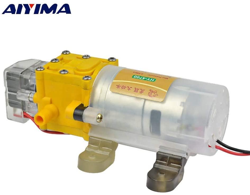 Pumps, Parts & Accessories ZRF Micro Diaphragm Pump DC12V High Pressure Electric Sprayer Self-priming Car Washer Pump Fighter Pumps Smart shutdown