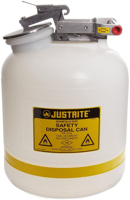 Justrite 12754 5 Gallon Capacity, 12.00