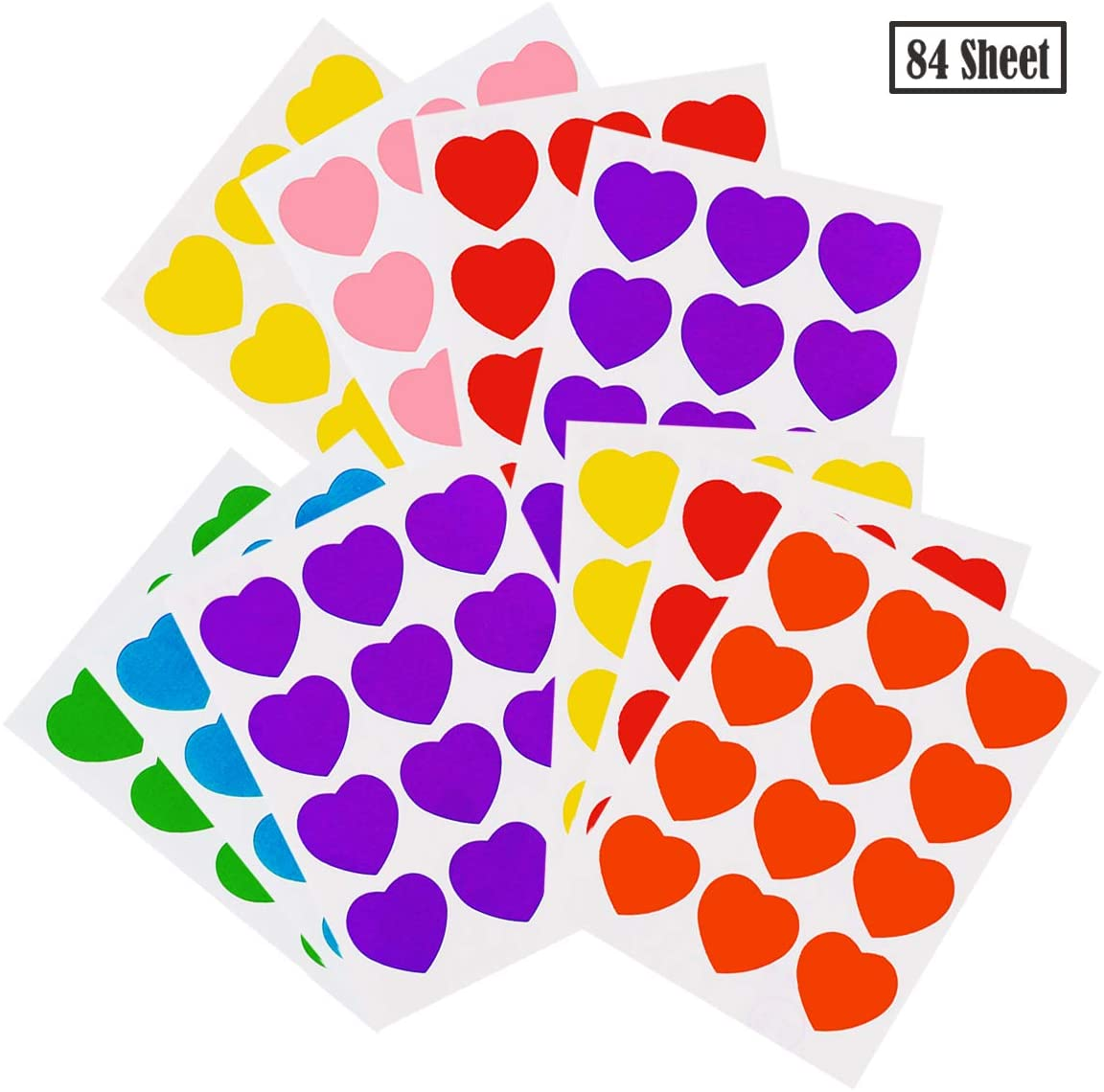 TWDRer 84 Sheet Neon Color-Coding Labels,Dots Round Stickers,Rainbow Dot Stickers,1008 PCS, Arts, Crafts, Fun and Games Stickers