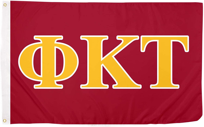 Desert Cactus Phi Kappa Tau Letter Fraternity Flag Greek Banner Large 3 feet x 5 feet Sign Decor
