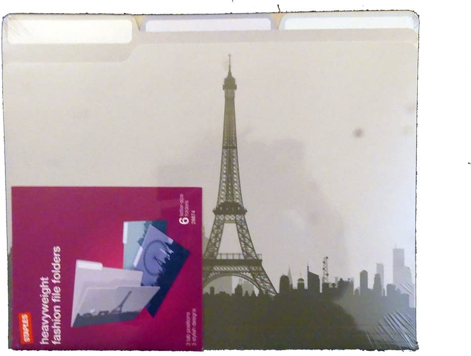 Cityscapes Heavyweight Fashion File Folders Paris London Rome