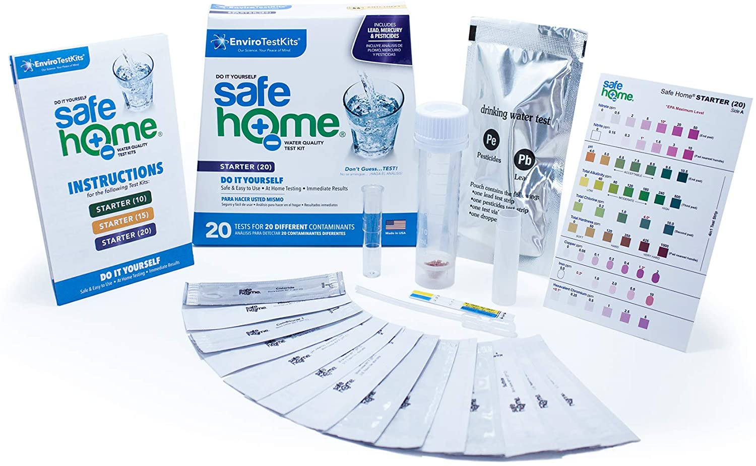 Safe Home STARTER-20 DIY Water Quality Test Kit