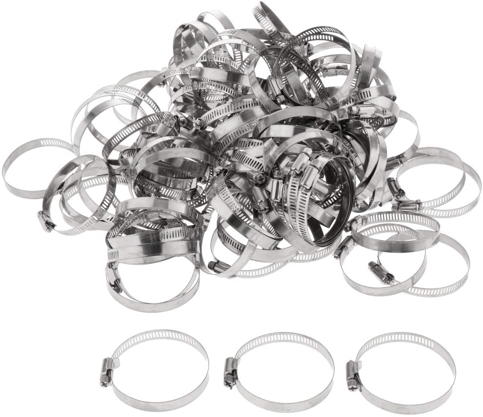 Milageto 100x Multifunction Hose Clamps Pipe Clamps Hose Clamps For Hose - 51-70mm
