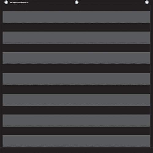 Teacher Created Resources Black 7-Pocket Pocket Chart (Pack of 48)