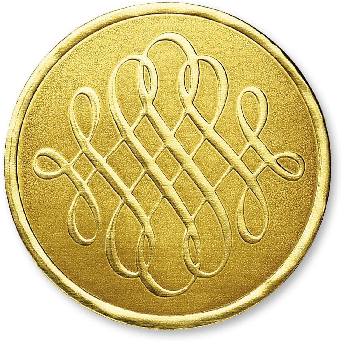 PaperDirect Luxury Swirls Embossed Foil Certificate Seals, 32 Count (Gold)