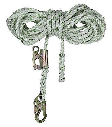 SafeWaze FS700-50GA Polyester-Dacron Rope Lifeline, 5/8