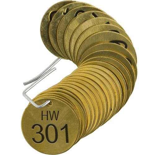 Brady 23424, Stamped Brass Valve Tag, (10 Packs of 25 pcs)
