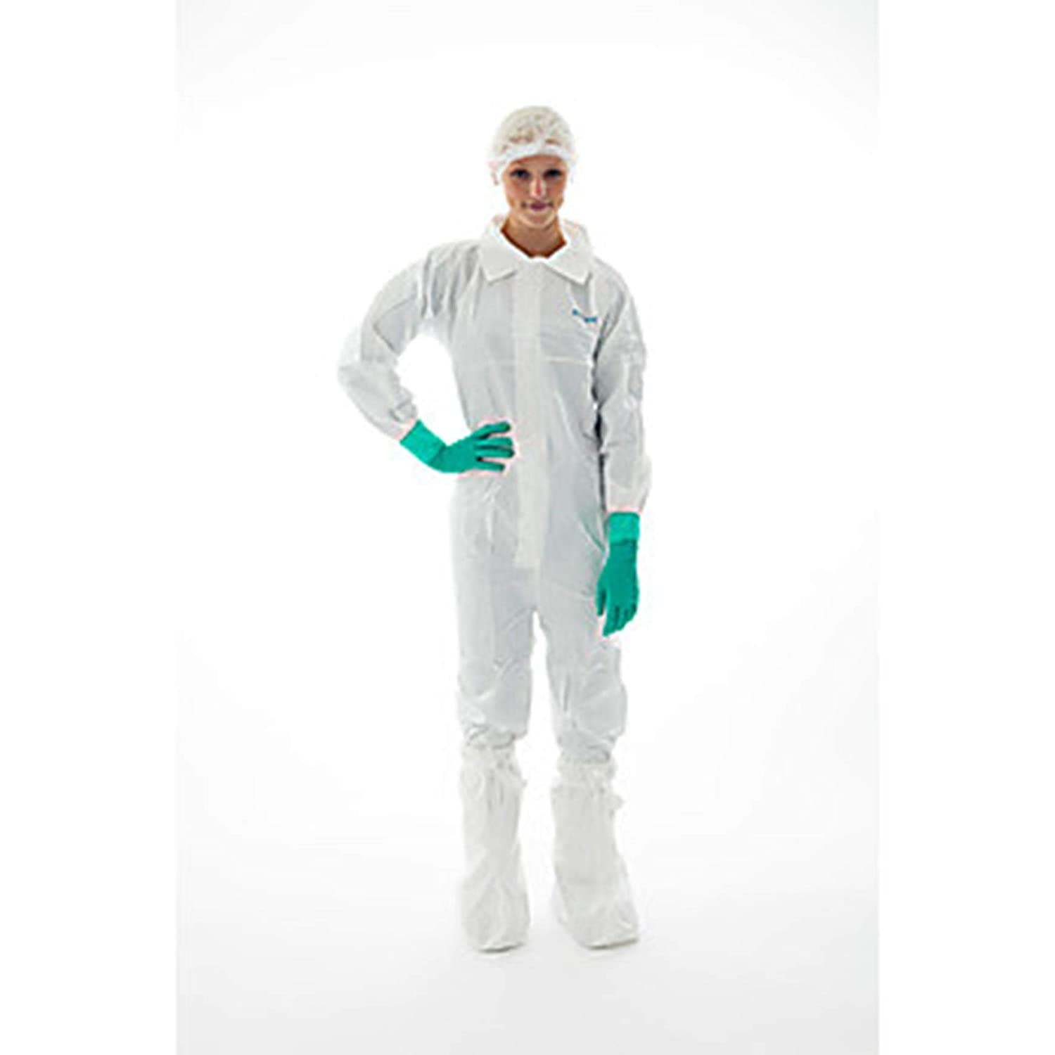 Ansell S-BDCHT-XXXL BioClean Coverall with Collar, Anti-Static, White, Sterile, 3XL (Pack of 15)