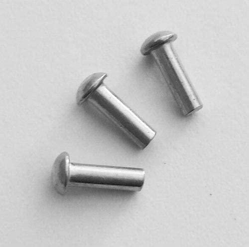 Ochoos Rivets Domed Head Solid Aluminum M5 x 8
