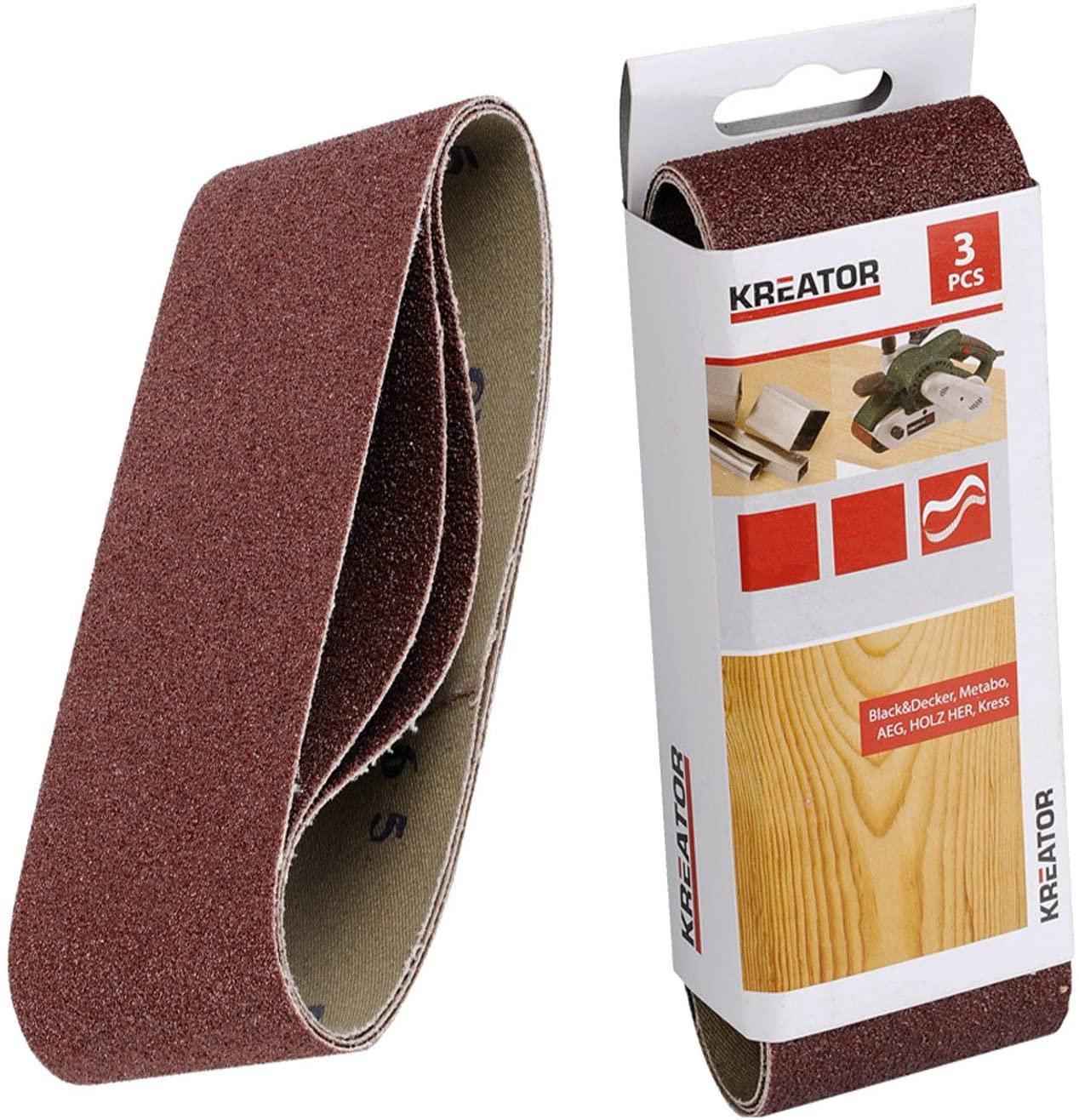 Kreator 03243003 Sanding Belts 100 x 610 mm Grit Size 40 Set of 3