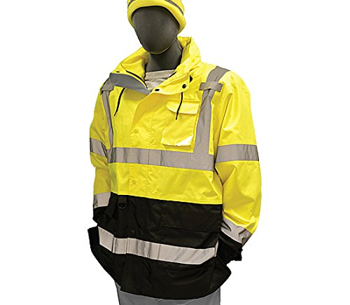 Majestic Glove 75-1307/T1 System Parka, Hi-Vis, Class 3, Insulated Packet, X-Large/Tall, Yellow