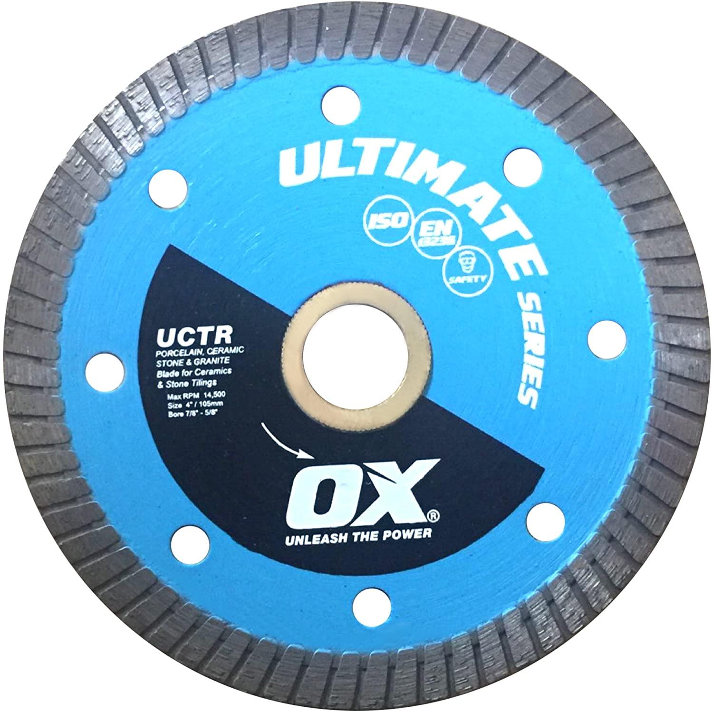 OX Tools Ultimate Tile Cutting Diamond Porcelain Blade, 4