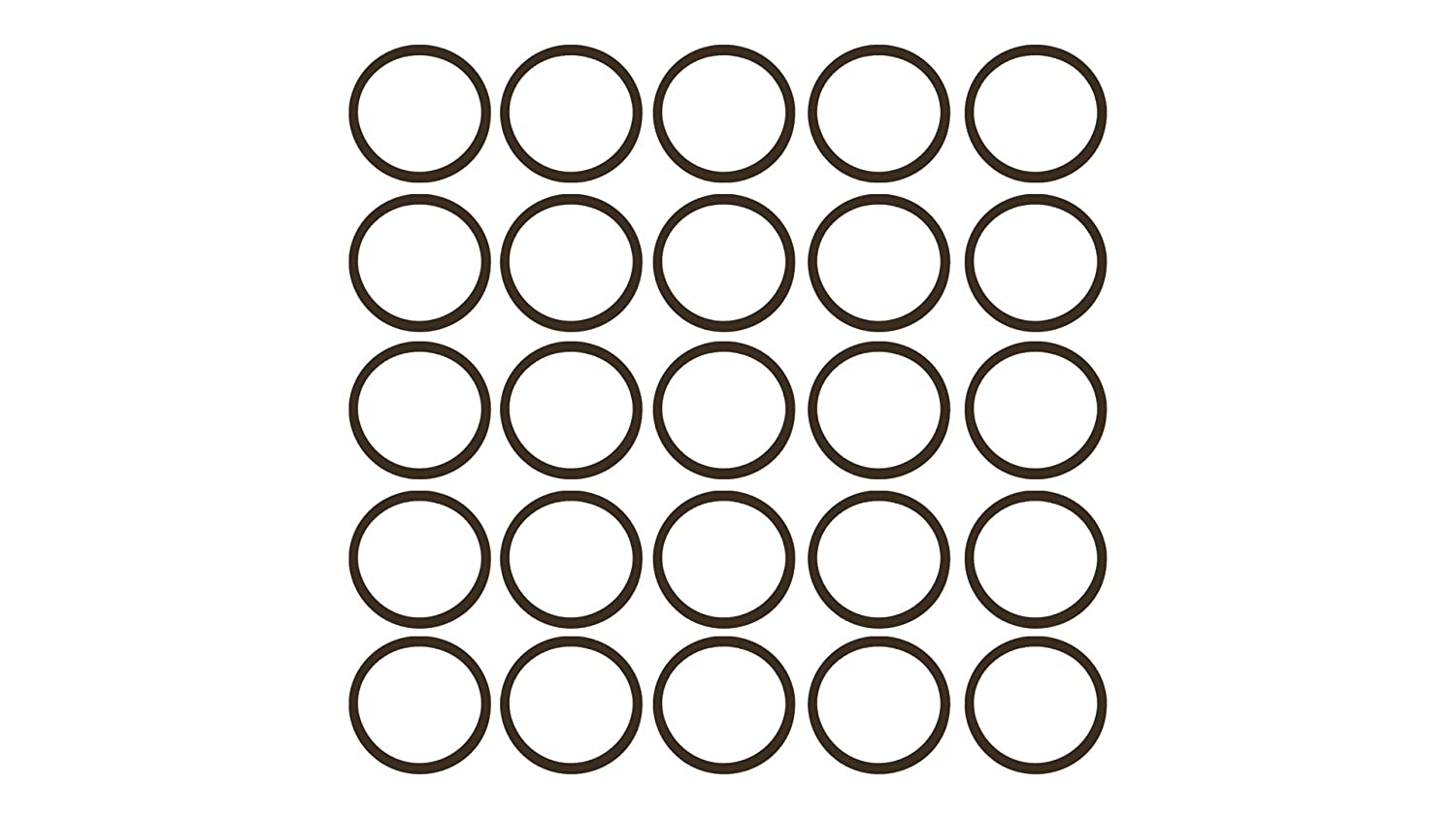 Sterling Seal OR75BRNVI021X25 021 75D O-Ring, FKM/Viton, Brown (Pack of 25)