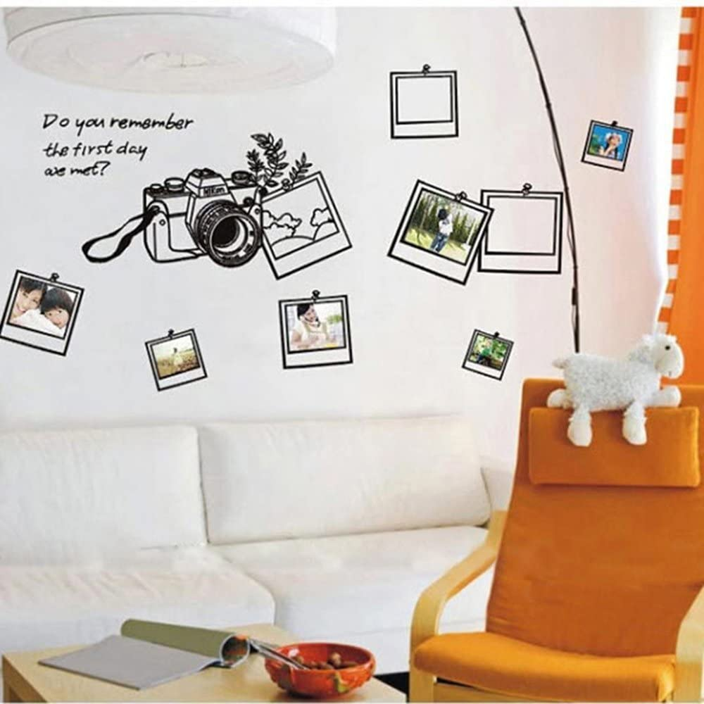 Home Decor Wall Stickers Photo Frame Removable Room Decor Vinyl Wall Decals Family Pictures Frame With Quotes Do you Remeber the First Day We Met