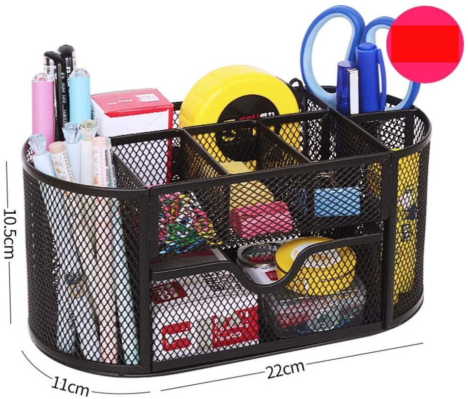 Metal mesh Pen Pencil Holder,Creative Pen Organizer Korea Student Stationery Holder Multi-Function Organizer for Office Supplies-9 Grid 22x11x11cm(9x4x4inch)