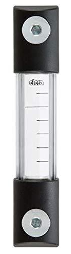 Elesa 111014 Column Level Indicator, Hck-Gl Model, Transparent Pyrex Body, Polycarbonate Protection, Zinc-Plated Steel Hardware, Aluminum Support, 6.46