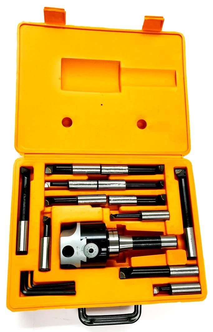 HHIP 1001-0107 3 Piece Boring Tool Set (3 Inch Head / R8-3/4 Inch)