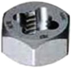 Gyros 92-91015 Metric Carbon Steel Hex Rethreading Die, 10mm x 1.50 Pitch