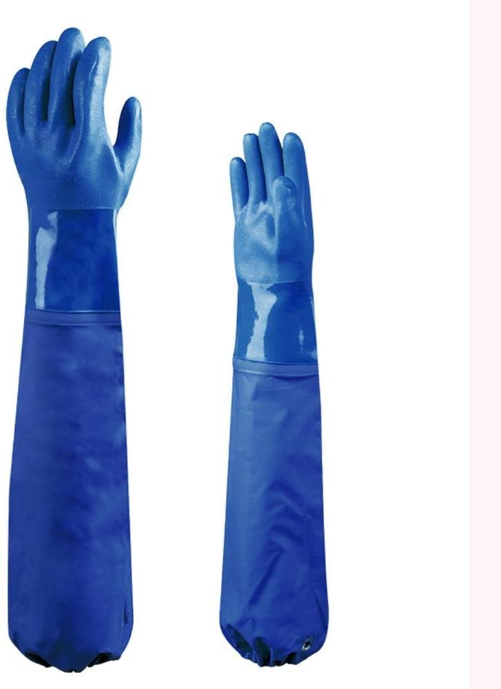 Vulcanization of PVC to strengthen the work of labor protection protective gloves wear cotton lining insulation sweat / 62cm