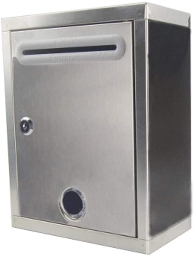 CAI-1 Wall-Mounted Stainless Steel Metal Suggestion Box Thickening Waterproof Suggestion Box Complaint Letter Box