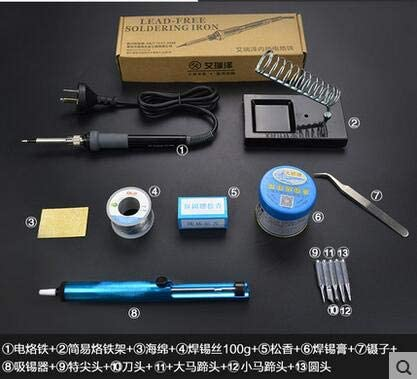 Soldering 40w 50w 60w Electric soldering iron sets of household appliances precision temperature welding electronic maintenance - (Power: 40W, Color: 13pcs set)