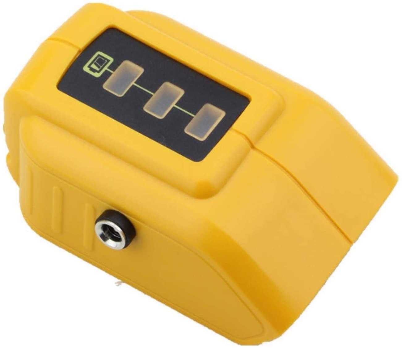 dawupine New DCB091 with 12V DC Output USB Adapter for DEWALT 10.8V 12V 18V 20V Rechargeable Jacket