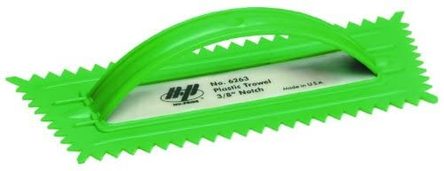 QLT BY MARSHALLTOWN 6263 Plastic Notched Trowel, 3/8