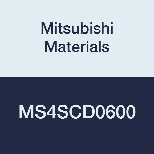 Mitsubishi Materials MS4SCD0600 MS4SC Series Carbide Mstar Square Nose End Mill, Short Flute, Center Cut, 4 Flutes, 6 mm Cutting Dia.