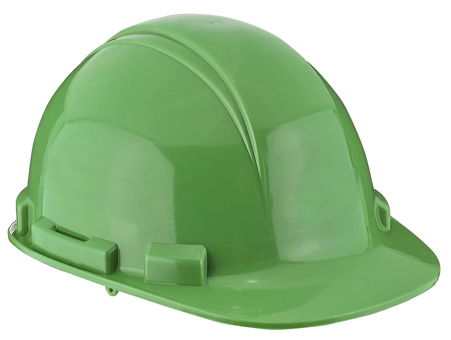 Dynamic Safety HP241/45 Whistler Hard Hat with 4-Point Nylon Suspension and Pin Lock Adjustment, ANSI Type I, One Size, Lime Green